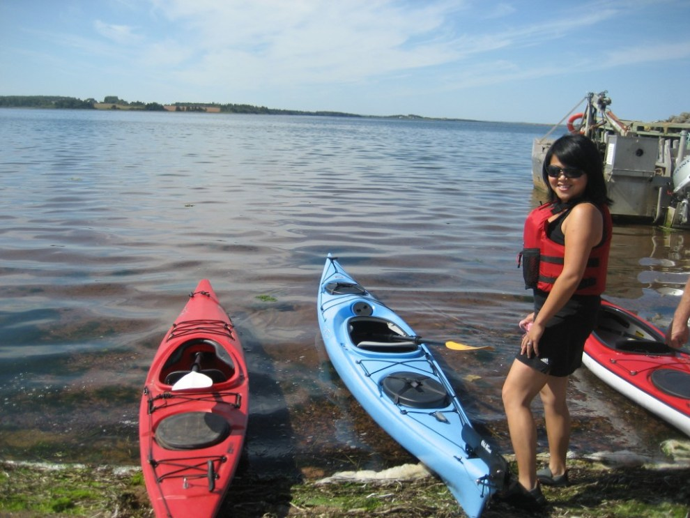 Getting ready to kayak