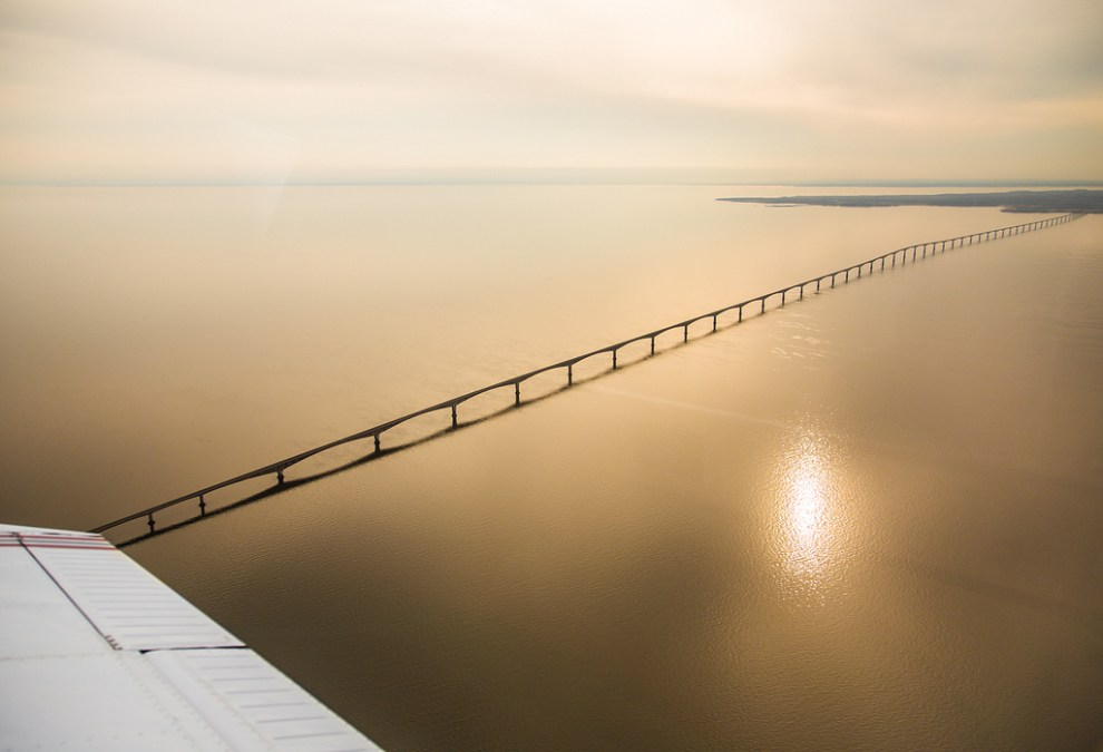 Confederation Bridge Aerial View - Neil Taylor Photography