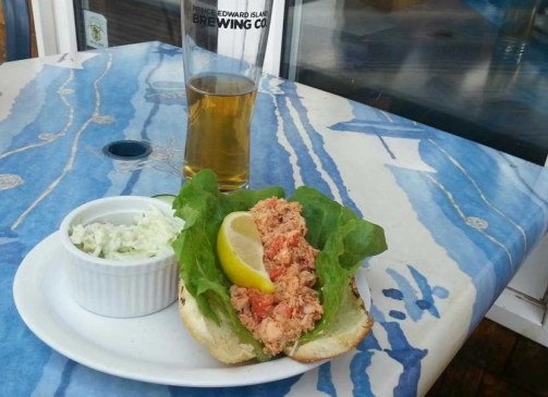 Try out a lobster roll from Ricks Fish and Chips