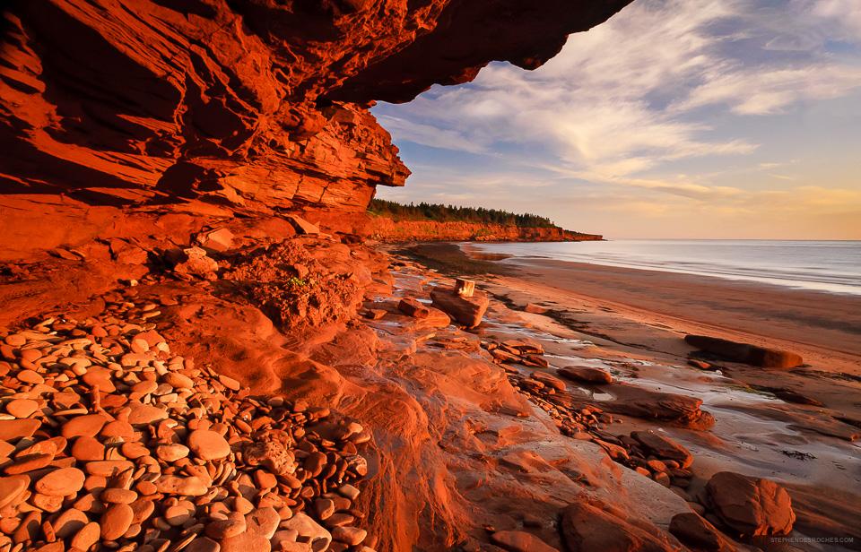 Red Sandstone Cliffs, Cavendish, PEI National Park