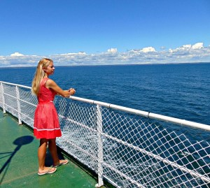 Desiree on the Ferry to Prince Edward Island