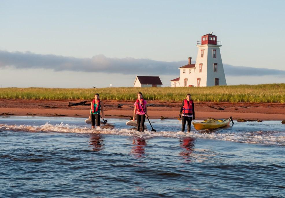 Kayaking along the North Cape Coastal Drive