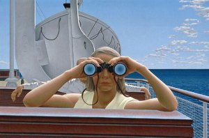 Alex Colville's To Prince Edward Island (1965) // Source: National Gallery of Canada