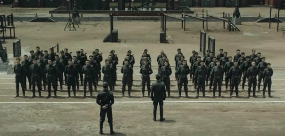 "Soldiers assembled in chinese drama ""Arsenal Military Academy"""