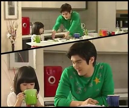 MinWoo and YeEun eating breakfast