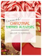 Christmas themed activities and printables