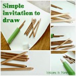 Art activities for toddlers: a simple invitation to draw