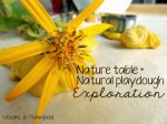 Nature table and homemade play dough – how we spent some quality time together