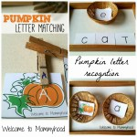 Pumpkin letter matching and DIY letter tiles