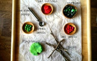 Christmas Play Dough Invitation with Loose Parts