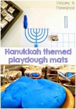 Hanukkah play dough mat