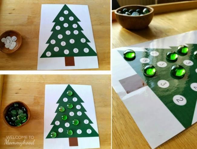 Christmas Tree Dot Printables For Practicing Letters