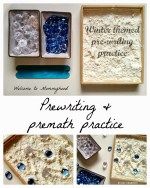 Winter Activities for Kids: Premath and prewriting practice