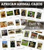 Free Printable African Animal Cards