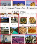 Introduction to France 3 part cards