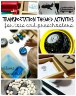 Transportation themed toddler shelves
