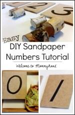 DIY sandpaper numbers