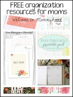 Free home management and organization printables