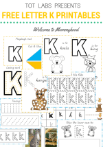Free hands on letter K printables