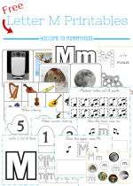 Letter of the Week: Letter Mm printables