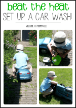 Beat the heat! Set up a car wash!