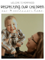 Respecting our children: how we raise our children