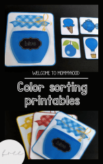 Colors sorting activity for toddlers (printables in 4 languages)
