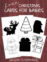 Christmas image cards for babies