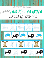 Arctic animal cutting strips