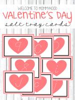 Valentine's Day Salt Tray Tutorial and Printables