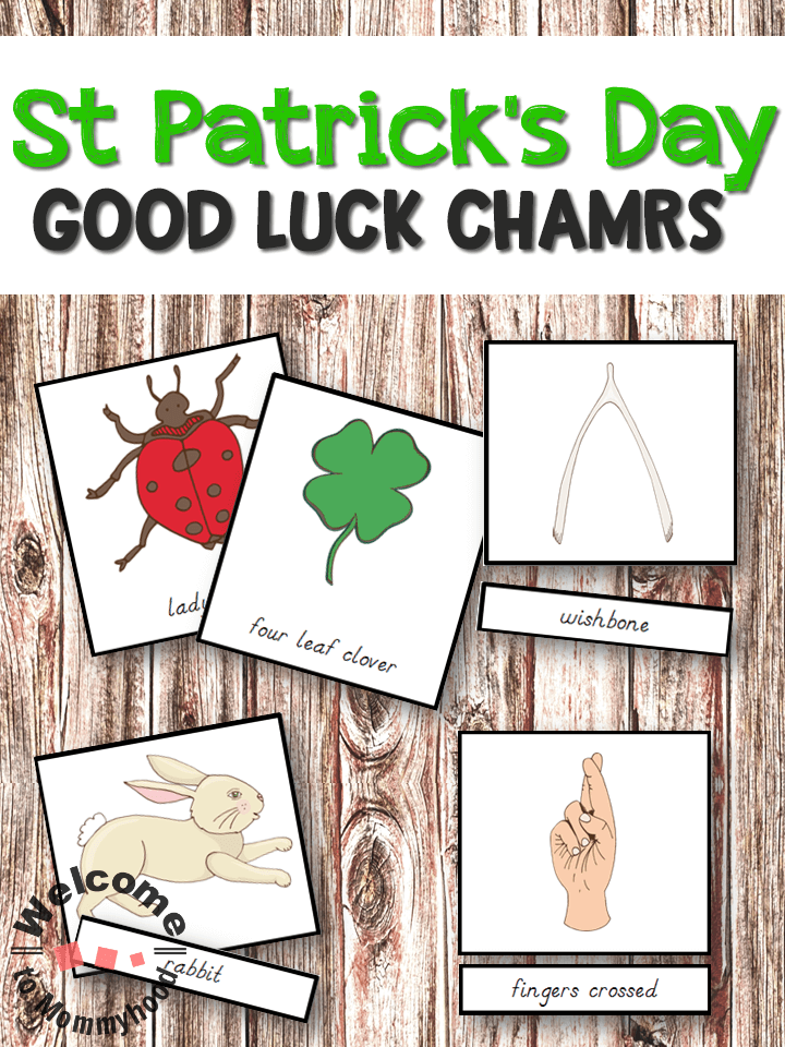 Use these beautiful Montessori Lucky charms 3 part cards for St Patrick's Day to show your students assorted luck symbols from different cultures. These are perfect for hands-on learning activities, St Patrick's Day Activities, or Montessori activities.
