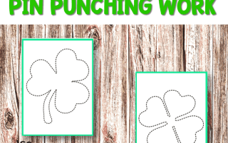 St Patrick's Day Pin Punching
