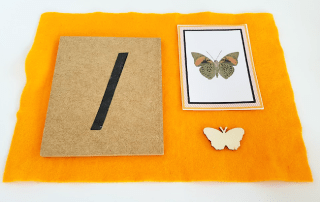 Spring activities: Butterfly themed numbers bundle by Welcome to Mommyhood #montessori, #montessoriactivities, #preschoolactivities, #springactivities, #spring