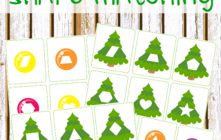 Toddler Christmas Shape Matching Printables