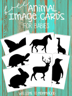 Free Animal Cards for Babies
