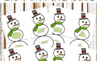 Winter activities: Snowman shape matching