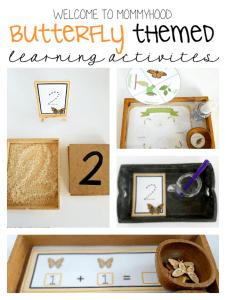 Montessori activities: hands on butterfly activities
