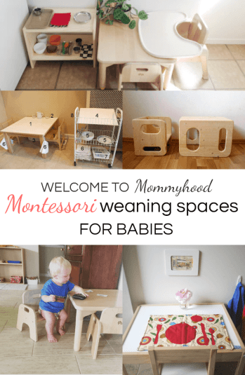 Montessori weaning spaces