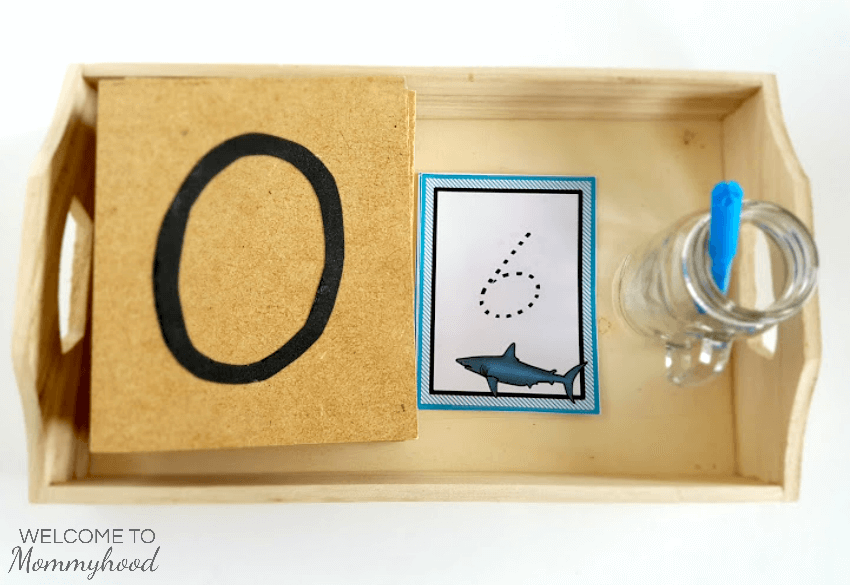 Montessori counting printables: Sharks number cards #montessori #montessoricountingprintables
