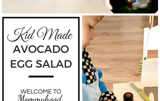 Easy recipes for kids: avocado egg salad for healthy breakfast for kids
