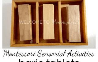 Learn how to make and use Montessori baric tablets! #montessori #montessoriactivities