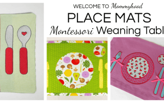 Montessori placemats are a great way to foster independence and teach children how to set the table. You can learn where to get Montessori placemats and how to use them on the blog. Click through to learn all about Montessori weaning! #montessoriweaning #montessoriplacemats #montessori