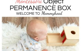 Montessori toys for babies: object permanence box #montessoribabies #montessoritoys #montessorifrombirth