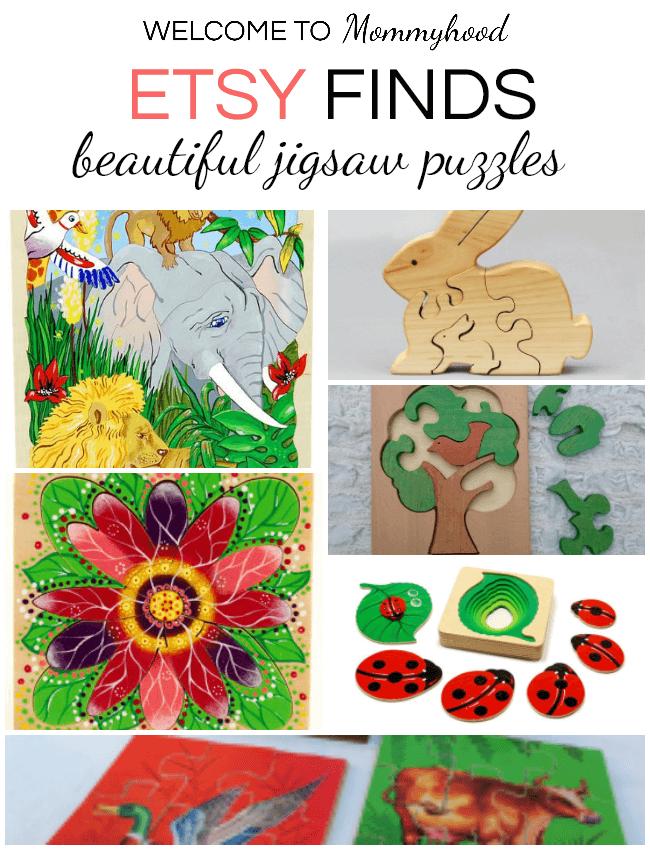 Beautiful etsy puzzles for kids #montessorihome #montessorikids
