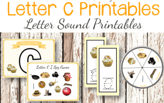 Letter C Printables. Letter of the Week Printables for Preschoolers: Letter Sound Printables #letteroftheweek #lettersoundactivities