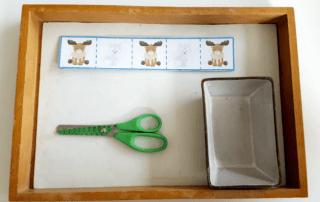 Arctic animal cutting strips for Montessori activities and scissor practice
