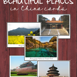 Beautiful Places in China Cards - use these to create a fantastic China Unit Study, for your Asia continent boxes, or for Chinese New Year Activities! #chinesenewyear #chinaunitstudy #montessoriactivities