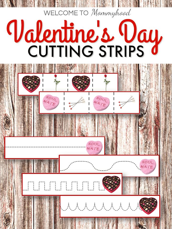 Valentine's Day Cutting StripsValentine's Day Cutting Strips
