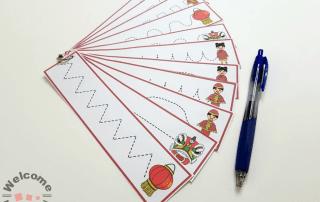 Chinese New Year Cutting or Tracing Strips #chinesenewyearactivities #chinesenewyear #montessoriactivities