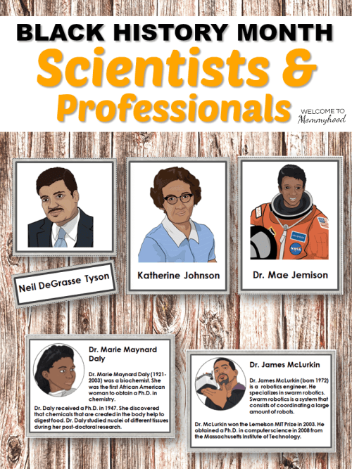 Black History Month Scientists and Professionals WtM
